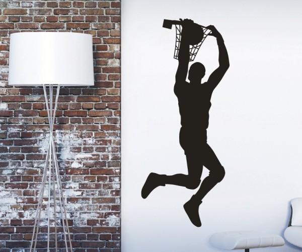 Wandtattoo - Basketball - Silhouette / Schattenmotiv | 2
