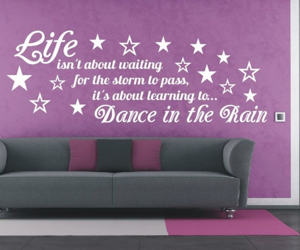 Wandtattoo - Life isn´t about waiting for the storm to pass, it´s about learning to Dance in the Rain. | 8