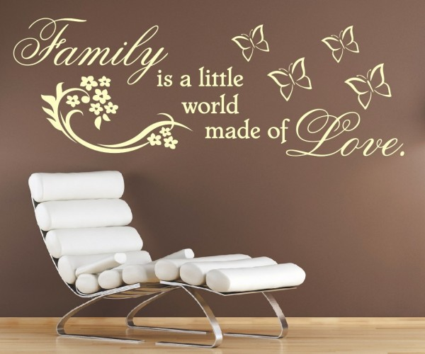 Wandtattoo - Family is a little world made of Love. - Variante 2