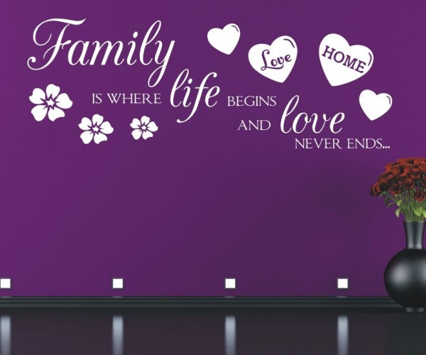 Wandtattoo - Family is where life begins and love never ends... | 6