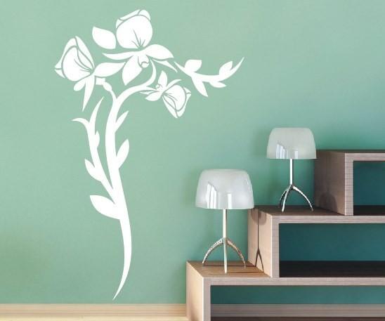 Wandtattoo - Blumenmotiv / Blumenranke - Variante 70
