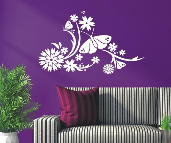 Wandtattoo - Blumenmotiv / Blumenranke | 73