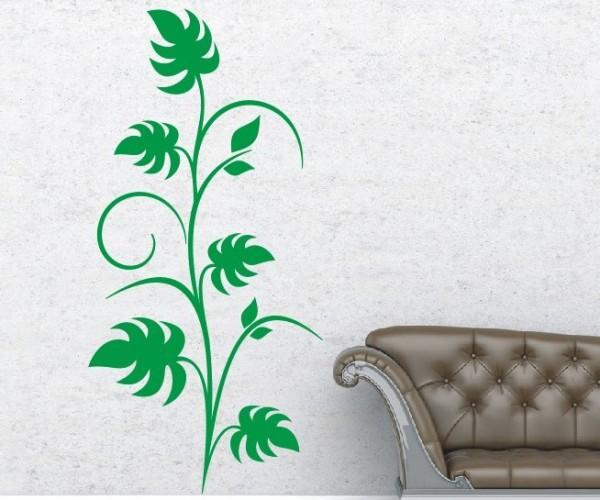 Wandtattoo - Blumenmotiv / Blumenranke - Variante 129