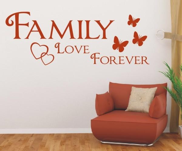 Wandtattoo - Family love forever | 10