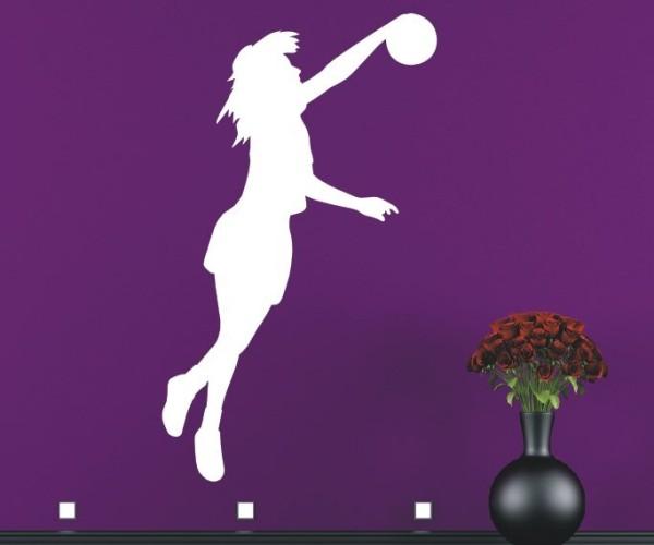 Wandtattoo - Volleyball - Silhouette / Schattenmotiv - Variante 1