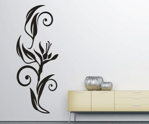 Wandtattoo - Blumenmotiv / Blumenranke - Variante 194