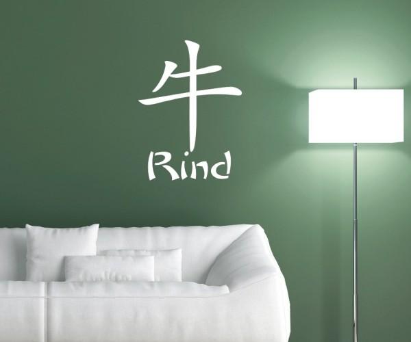 Wandtattoo - Chinesische Zeichen - Tierkreiszeichen/Sternzeichen   9