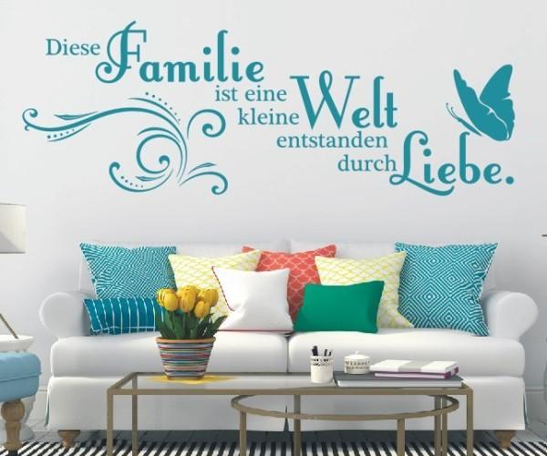 Wandtattoo - Familie ist eine kleine Welt entstanden durch Liebe.   4