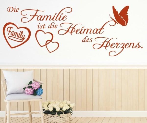 Wandtattoo - Die Familie ist die Heimat des Herzens.   2