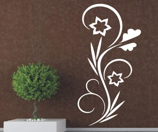 Wandtattoo - Blumenmotiv / Blumenranke - Variante 121